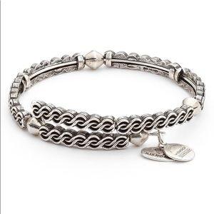 Alex and Ani Silver Twist Wrap Bracelet